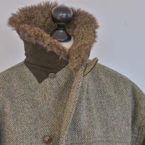 Winterjacke aus Harris Tweed mit Echtpelz