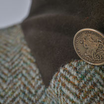 Herren-Outdoorjacke aus Harris Tweed mit Metallknopf