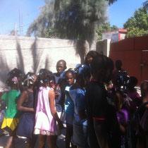 Première visite aux enfants dans le Centre d'Accueil des Enfants de la rue  MARS 2012