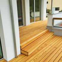 Terrassenbelag Lärche Rift/Halbrift gebürstet