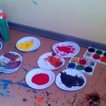 Farben für die Kulissen