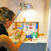 Setting für Stopmotion Film Deichtorhallen Workshop                                                                              Deichtorhallen GmbH Foto Vera Kovalenko