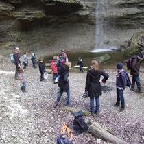 am Ziel - der Wasserfall