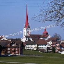 Beromünster Stiftkirche und Stiftshäuser St. Michael
