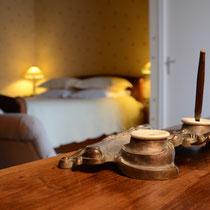 chambre Jehan des bois-détail déco- maison d'hôtes de la groie l'abbé