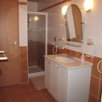 chambre nantelles - Salle de douche-maison d'hôtes de la groie l'abbé