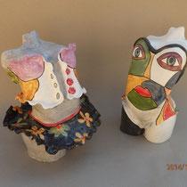 Florette à gauche, Jenny femme peinte