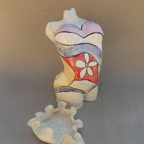 Colombine céramique peinte