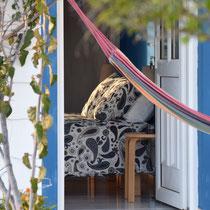 Blue room  from the garden at Onda Vicentina Algarve