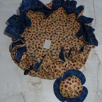 Näh-Utensilien-Beutel mit Nadel-Blüten-Kissen