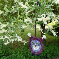 lila Eule im heimischen Garten I