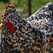 *Knopf-Huhn* aus einer *Hühner-Ausstellung* (Heidrun P.)