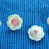 Blütenknöpfe *weiß-rosa*