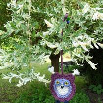 lila Eule im heimischen Garten II