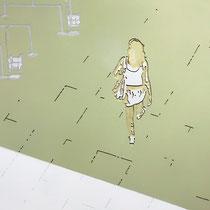 Sie genoss das Gefühl von Freiheit, das sie empfand, weil sie sich ihres Gepäcks entledigt hat.····2010···135x 105