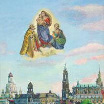 Dresden, Acryl auf Leinwand (verkauft)