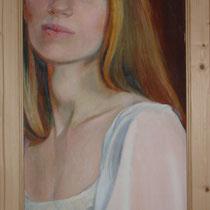 Schutzheilige aller Künstlerinnen und Herdheldinnen, Acryl auf Holz