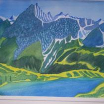 Nebelhorn mit Alpsee