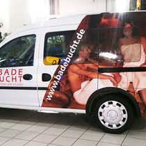 Digitaldruck auf Vinylfolie, foliert auf Fahrzeug (car wrapping)