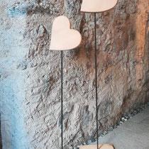 Herz - Aufsteller z.B. für vor die Haustür, Individualisierung möglich