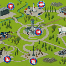 Wimmelbild zur Illustration von Management Prozessen - Kunde: Webasto
