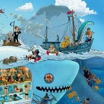 Lustige Wimmelbild Illustration für Puzzle (Detail 3) - Submarine / U-Boot - Verlag: Athesia (früher Heye)