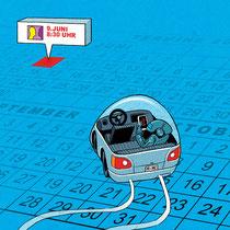 Illustration für das Cover eines IT-Kataloges - Kunde: Micro Consult