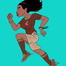Illustration Typisierung von Fussballspieler - Thema: Frauen-Fussball