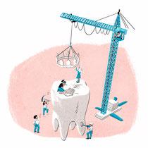 Editorial Illustration für das Magazin Finanztest - Thema: Zahnzusatzversicherung