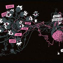 """Illustration für Cover und Rückseite des """"Book of Ideas"""" - Kunde: Serviceplan"""