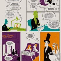 Comic für die Rückseite des DATEV Kundenmagazins, Thema: Digitalisierung