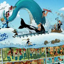 Lustige Wimmelbild Illustration für Puzzle (Detail 4) - Submarine / U-Boot - Verlag: Athesia (früher Heye)