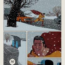 Illustrationsstrecke - Thema: Elektro-Mobilität - Motiv: Superheld - Magazin: Spiegel Wissen