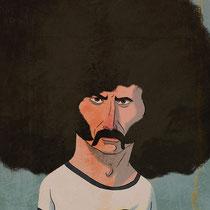Illustration Karikatur - Motiv: Paul Breitner - Buch: Fussballhelden