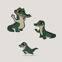 Character-Design für Online Game - Motiv: Krokodil - Kunde: Travian Games