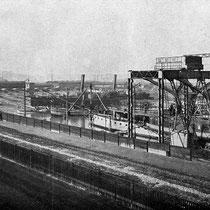 Schiffswerft Sachsenberg, um 1909.