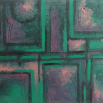Labyrinthe violet 91 x 73 cm