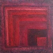 Abstrait rouge violet 100 x 100 cm