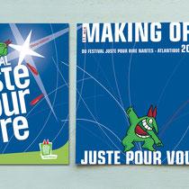 Packaging - Pochette CD carton - Festival Juste pour Rire 2007 - Nantes