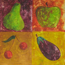 Fruits et légume  - 30 x 30 cm