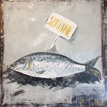 Grosse sardine - 30 x 30 cm