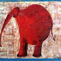 Eléphant - 55 x 46 cm