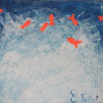 Petits poissons - 50 x 50 cm