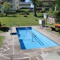 Kneippanlage in 88175  Scheffau - bei Scheidegg - neben der Kirche (Westallgäu)