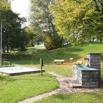 Kneippanlage in 87645 Schwangau- Kurpark am Fischweiher (Ostallgäu) (Foto: Touristinfo Schwangau)