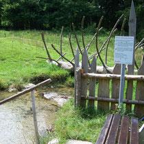 Wassertretanlage in 83229 Aschau/Sachrang - Ökokulturweg zwischen OT Aschach und Ferienanlage Oberes Priental (Foto: Touristinfo Aschau/Sachrang)