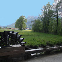 Wasserrad in 83229 Aschau am Moorbad (Foto: Touristinfo Aschau)