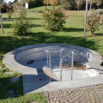 Wassertretbecken in 87466 Oy MIttelberg - im Kurpark (Oberallgäu)