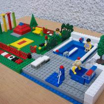 Legomodell - Kneippanlage der Künstler Knoll aus Österreich