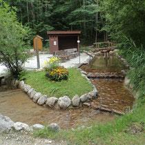 Kneippanlage in 83486 Ramsau - Bergkurgarten - (Foto: Fritz Rasp- Tourist-Information Ramsau)